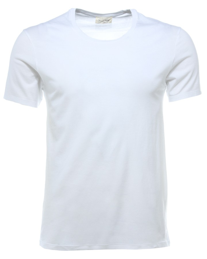 American Vintage MEN Basic T-Shirt White available at Stierblut