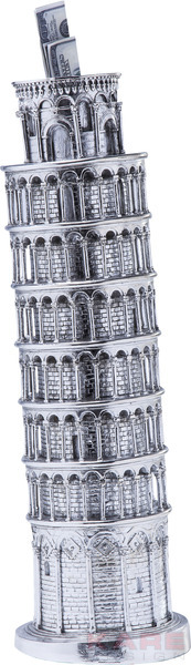 Money Box Tower of Pisa Chrome by KARE Design