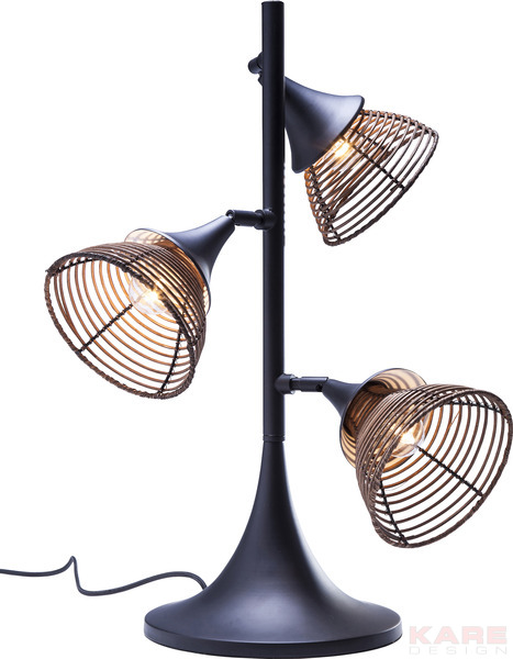 Table Lamp Rattan Tre by KARE Design