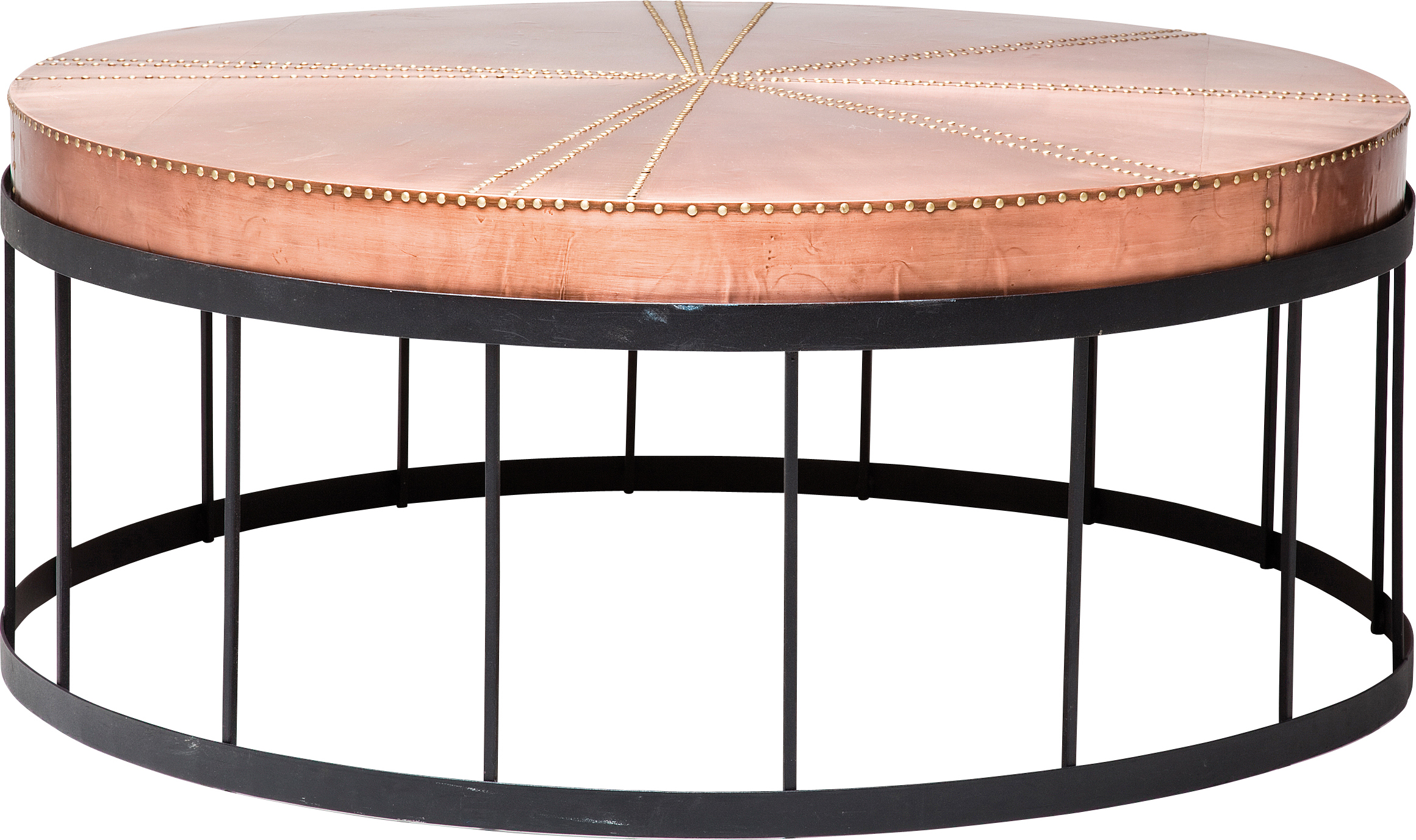 Side Table Rivet Copper Dia 102cm