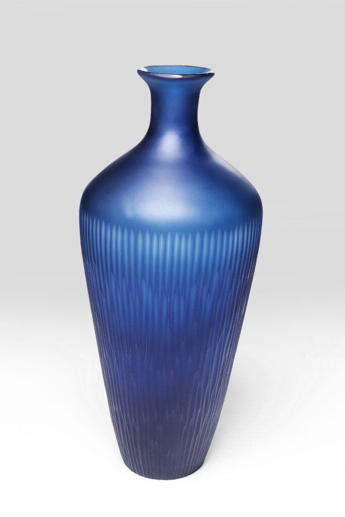 KARE Design Vase Cutting blue waist 43cm