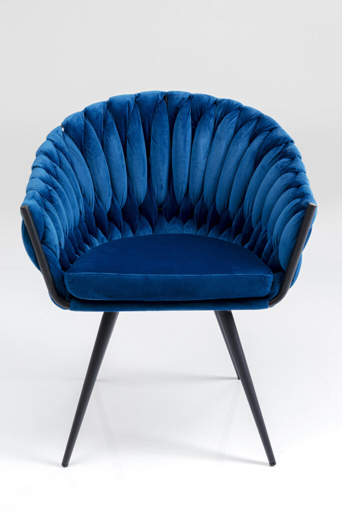 KARE design armchair Knot Blue